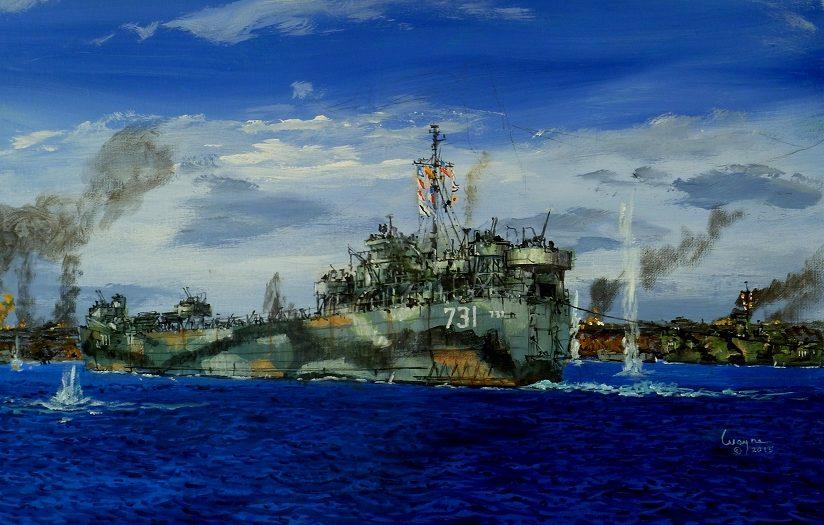 Scarpaci Wayne. Танкодесантный корабль Douglas County (LST-731).