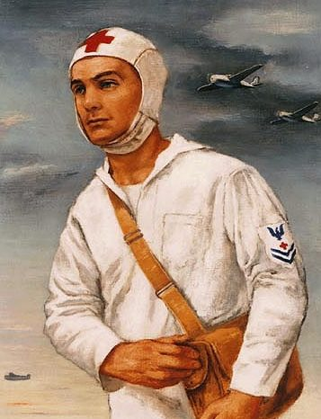 Levi Julian. Санитар на палубе авианосца.