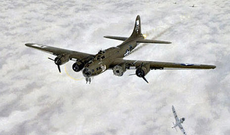 Bourgeois Ardell. Бомбардировщик В-17.