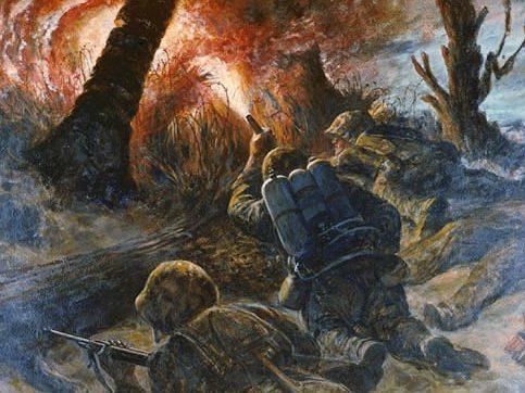 Benney Robert. Атака морских пехотинцев.