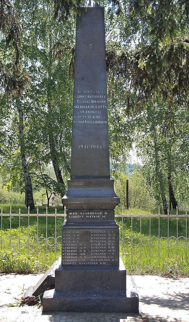 с. Большая Офирна Фастовского р-на. Памятник воинам, погибшим в годы войны.