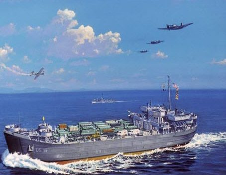 Flood James. Десантный корабль LST-32.