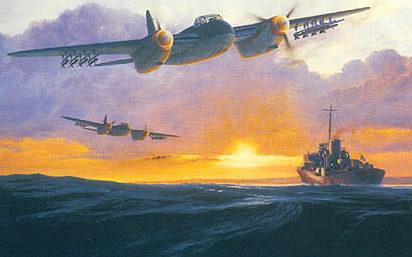West Philip. Бомбардировщик Havilland Mosquito.