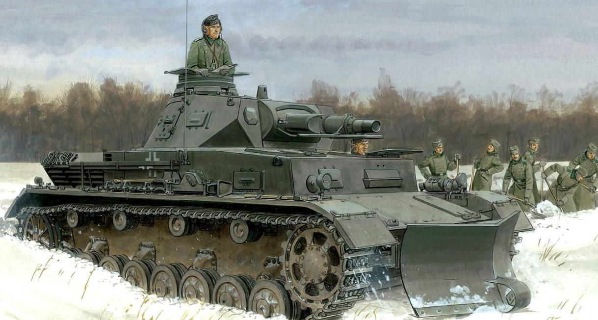 Volstad Ronald. Инженерный танк на базе Panzer IV Ausf F.