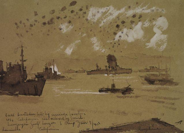 Norton Frank. Атака камикадзе на крейсер «Australia».