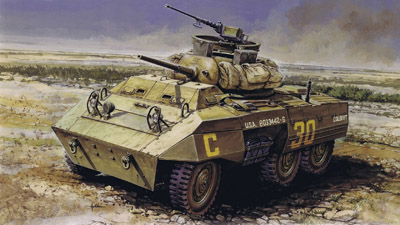 Tiziano Gollini. Бронеавтомобиль M-8 Greyhound.