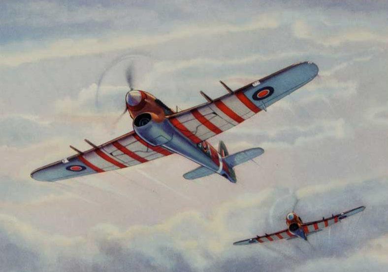 Hubbell Charles. Истребители Hawker Typhoons.
