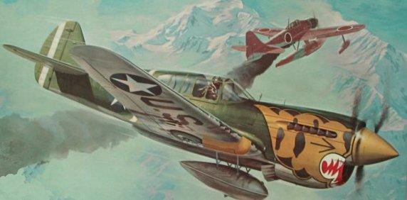 Leynnwood Jack. Истребитель P-40E.