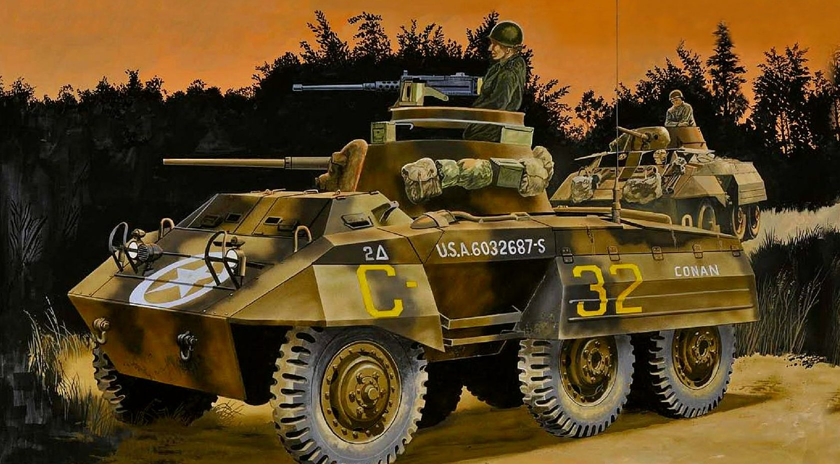 Greer Don. Бронеавтомобиль M-8 «Conan».
