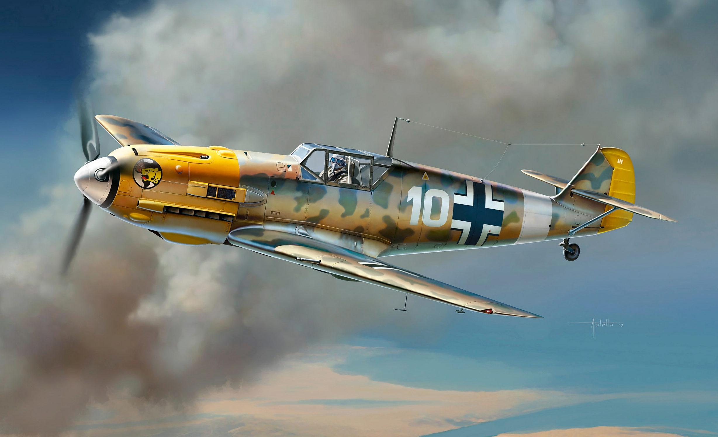 Auletta Vincenzo. Истребитель Bf-109 E-7 Tropical Version.