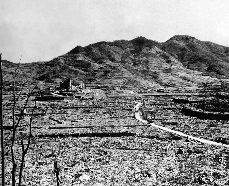 Район Ураками города после бомбардировки. Август 1945 г.