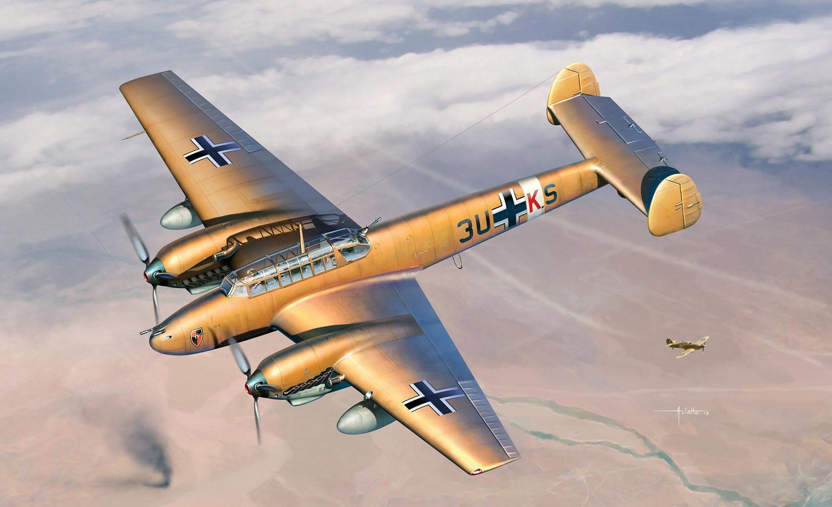 Auletta Vincenzo. Тяжелый истребитель Messerschmitt Bf-110 E-2.