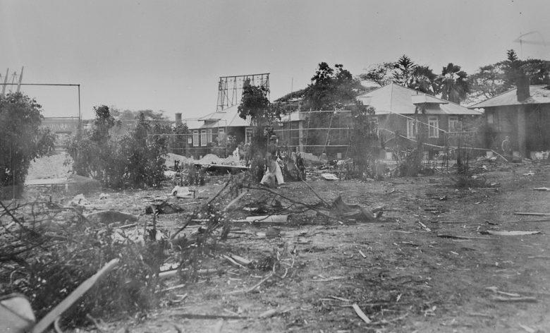 Разрушения госпиталя. Перл Харбор. 7 декабря 1941 г.