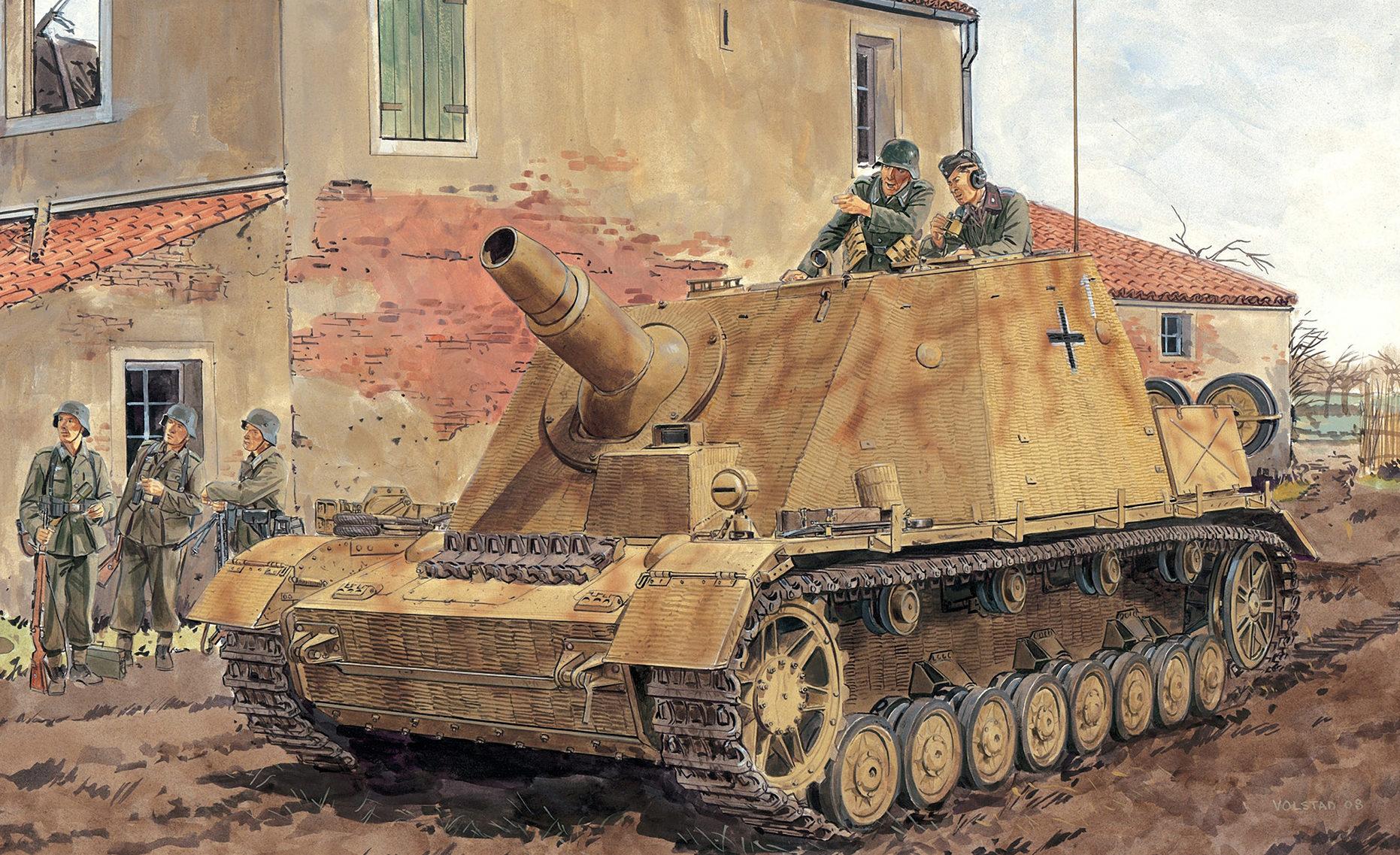 Volstad Ronald. САУ 15-cm StuH 43 (Brummbär).