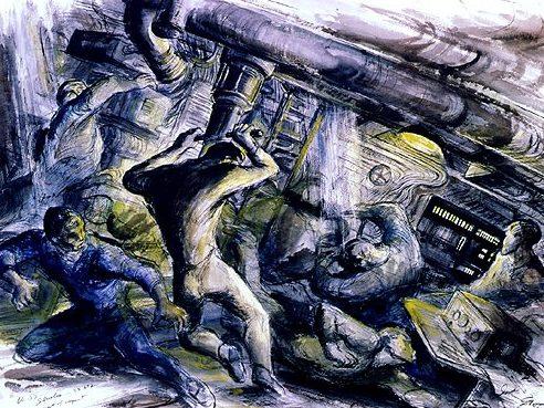 Groth John. Удар подводной лодки о дно.