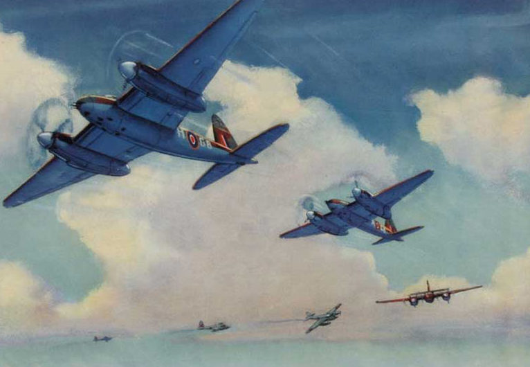 Hubbell Charles. Бомбардировщики Havilland Mosquito.