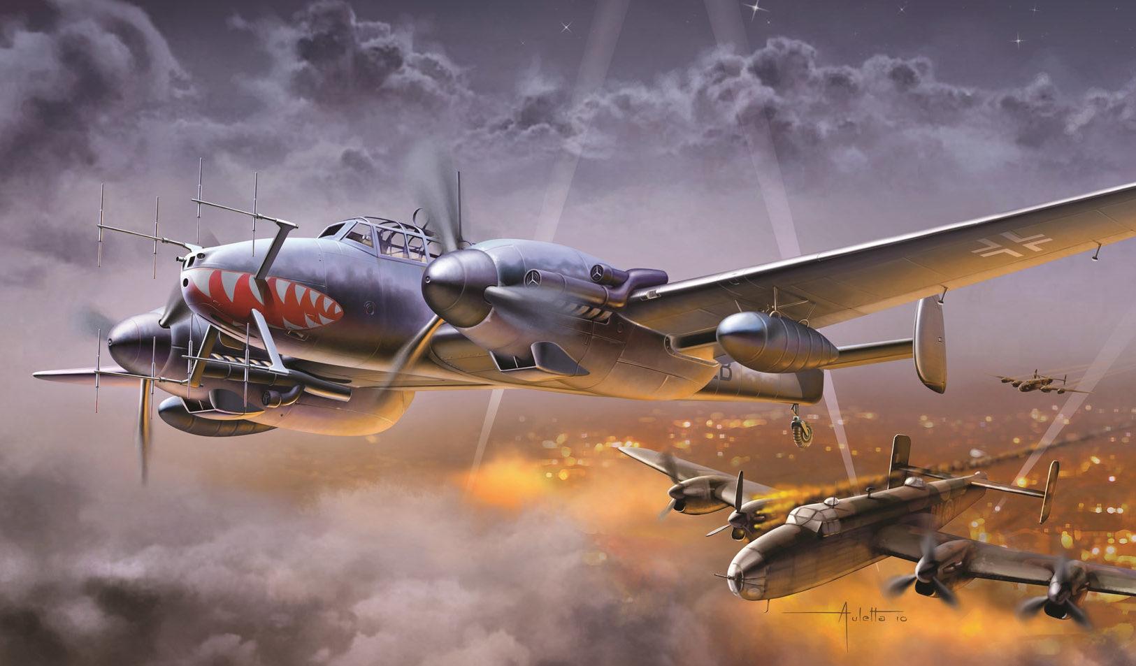 Auletta Vincenzo. Истребитель Bf-110.