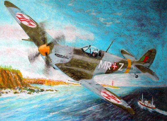 Silva Rui Laureano. Истребитель Spitfire.
