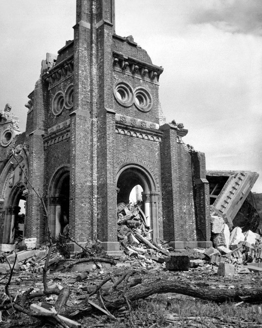 Римско-католический Собор Ураками в Нагасаки. Август 1945 г.