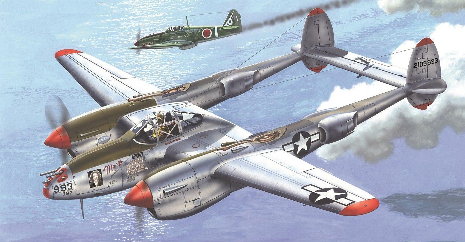 Greer Don. Истребитель P-38.