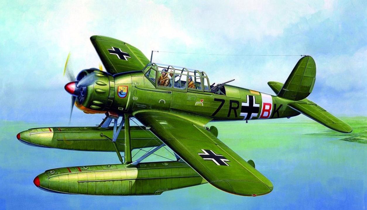 Valentino Roberto. Гидросамолет Ar 196A-5.