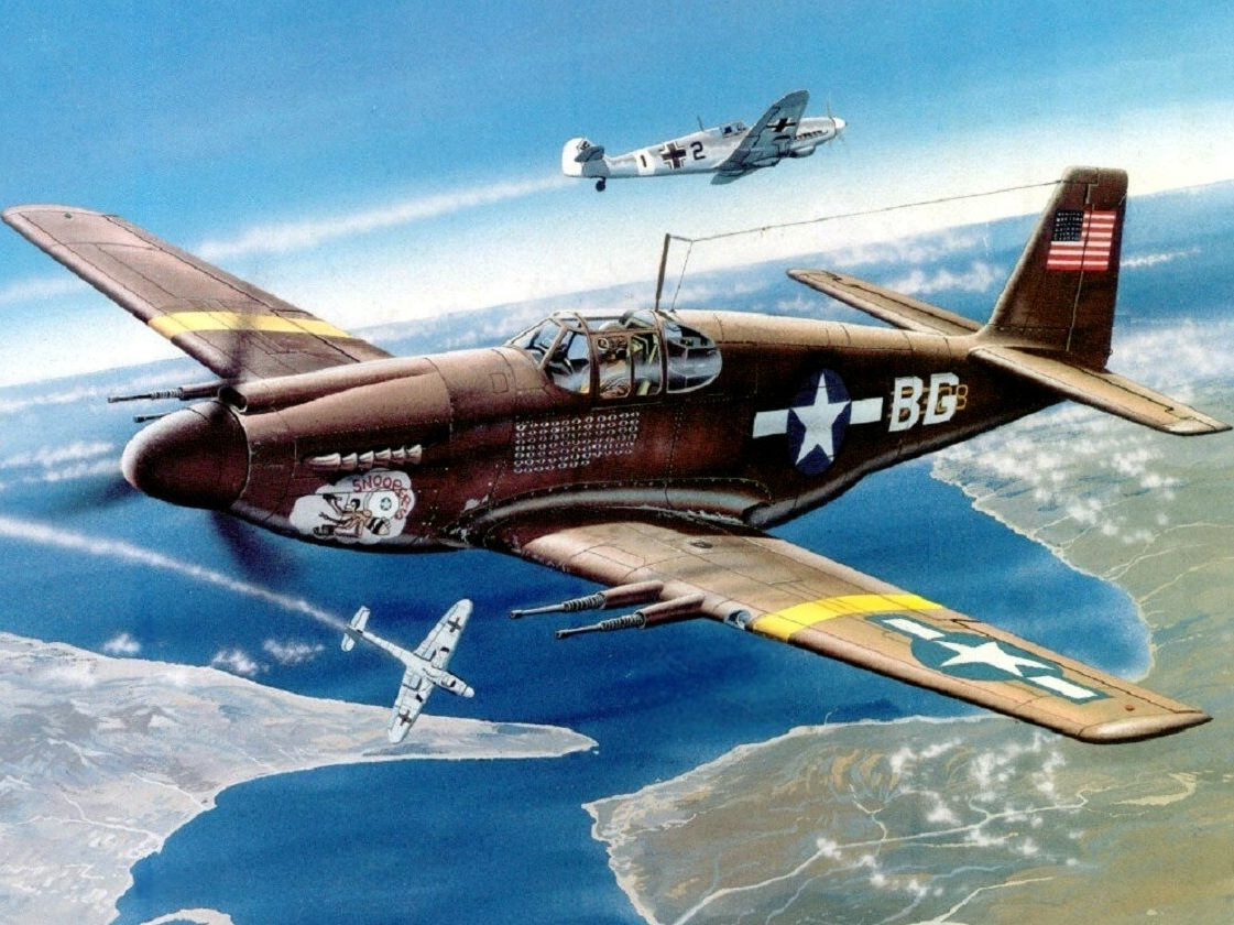 Greer Don. Истребитель P-51B Mustang.