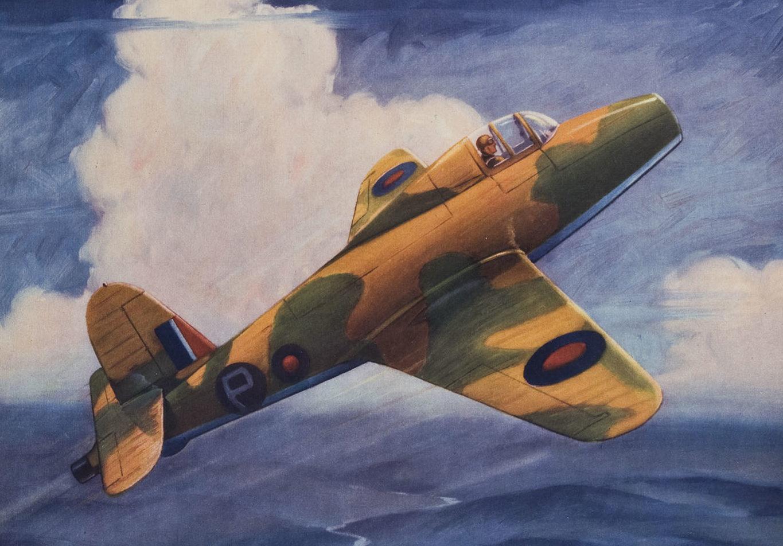 Hubbell Charles. Первый полет английского реактивного истребителя.