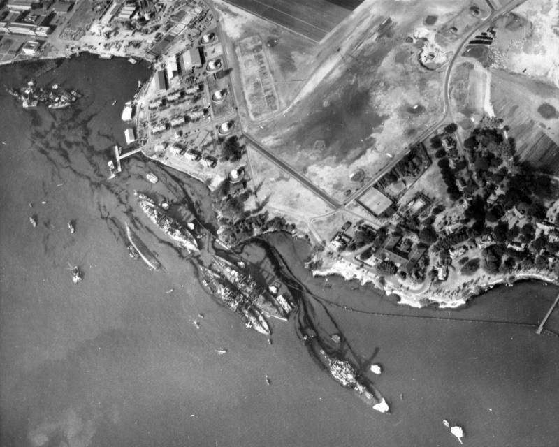 Вид на Перл-Харбор. 10 декабря 1941 г.