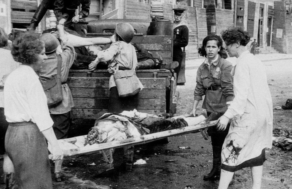 Раненные с передовой. Май 1943 г.