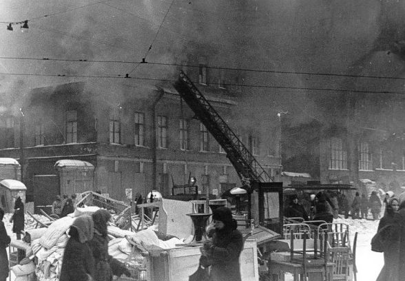 Пожар после аианалета. 1943 г.