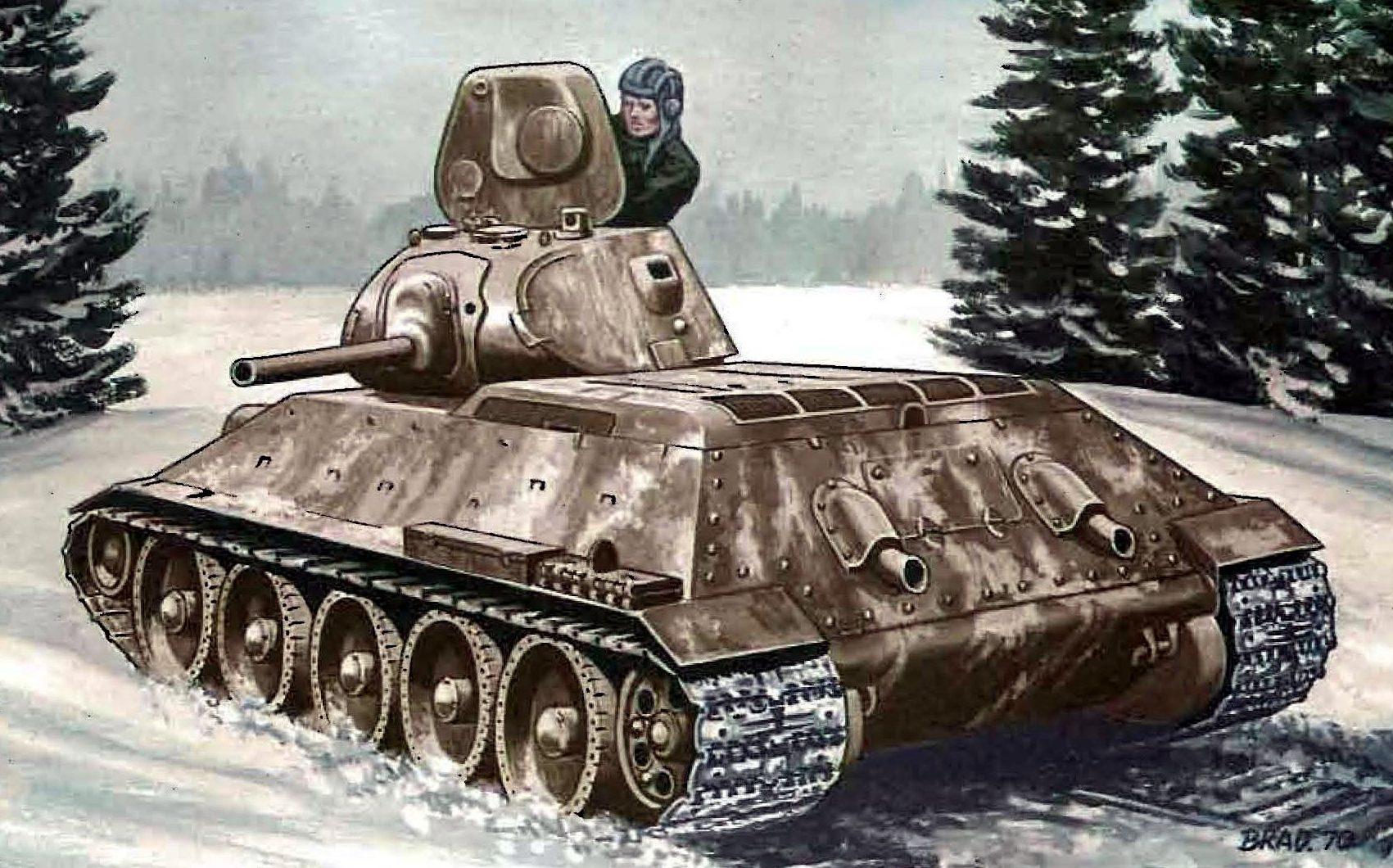 Bradford George. Танк Т-34/76.