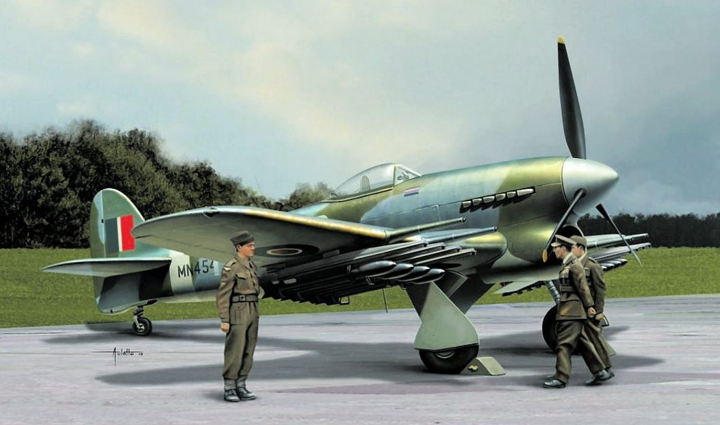 Auletta Vincenzo. Истребитель Hawker Typhoon Mk. Ib.