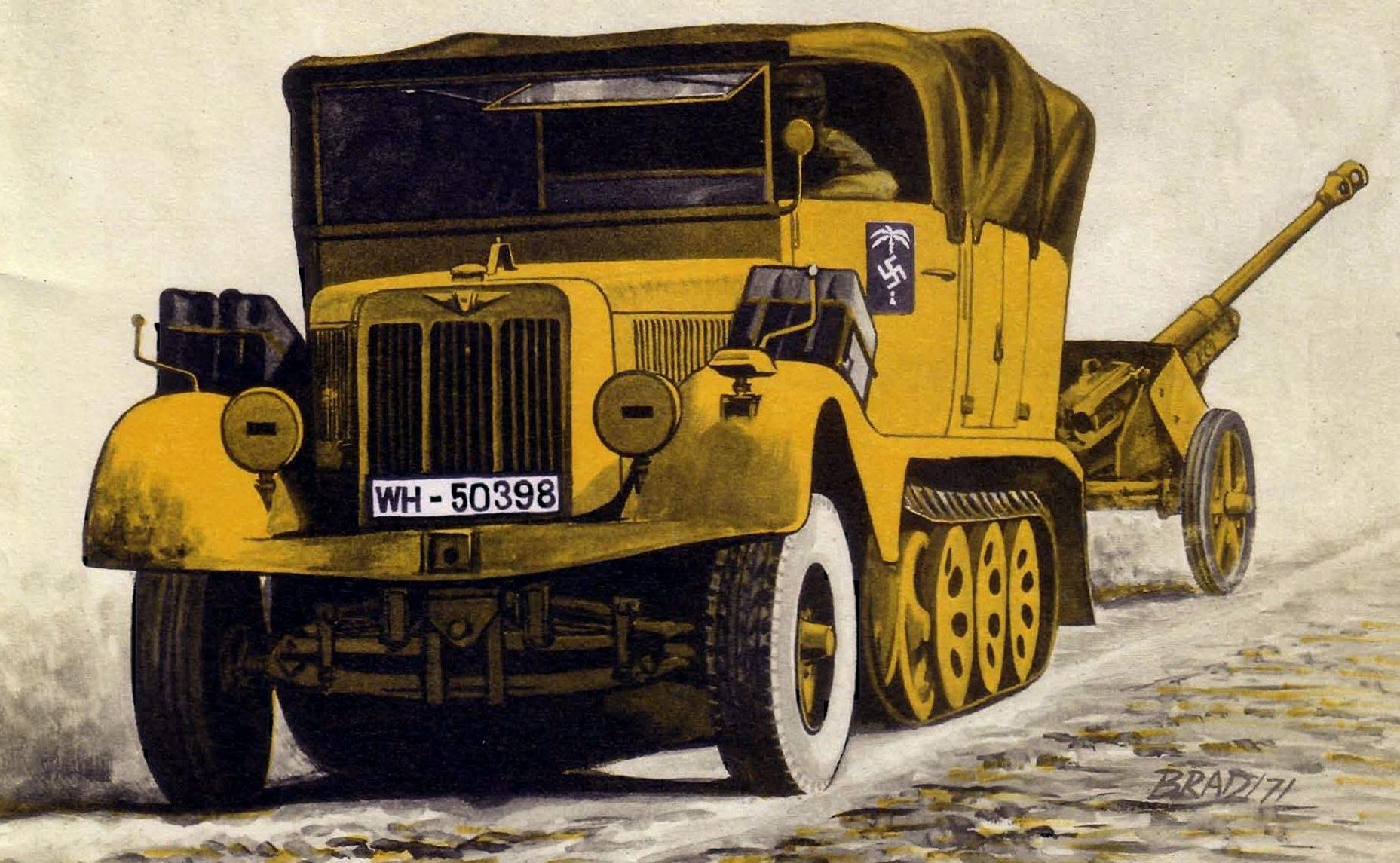 Bradford George. Полугусеничный грузовик Sd.Kfz.11.