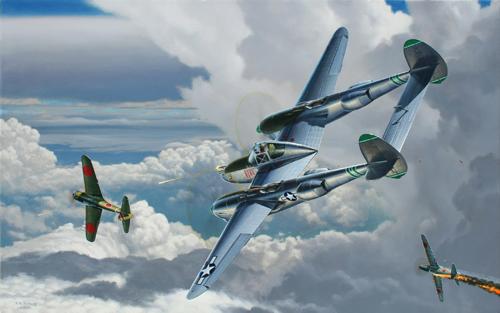 Vosburg Stan. Истребитель Р-38.
