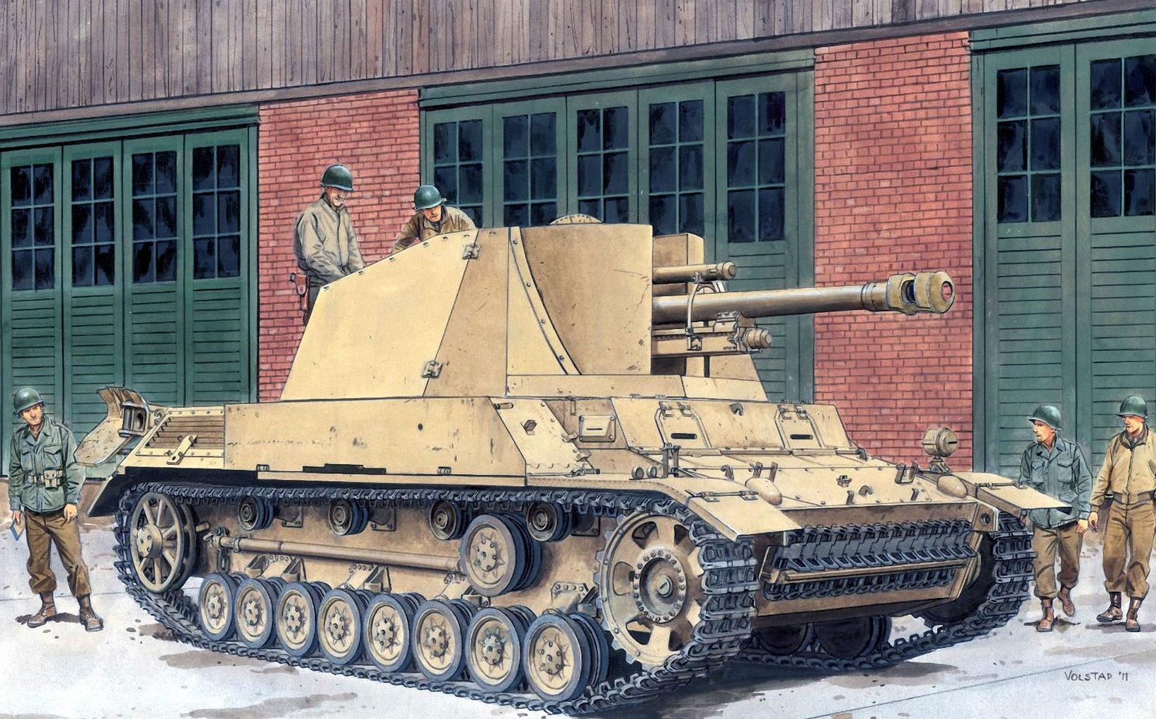 Volstad Ronald. САУ 105-мм leFH18 на шасси Pz.Kpfw III/IV.