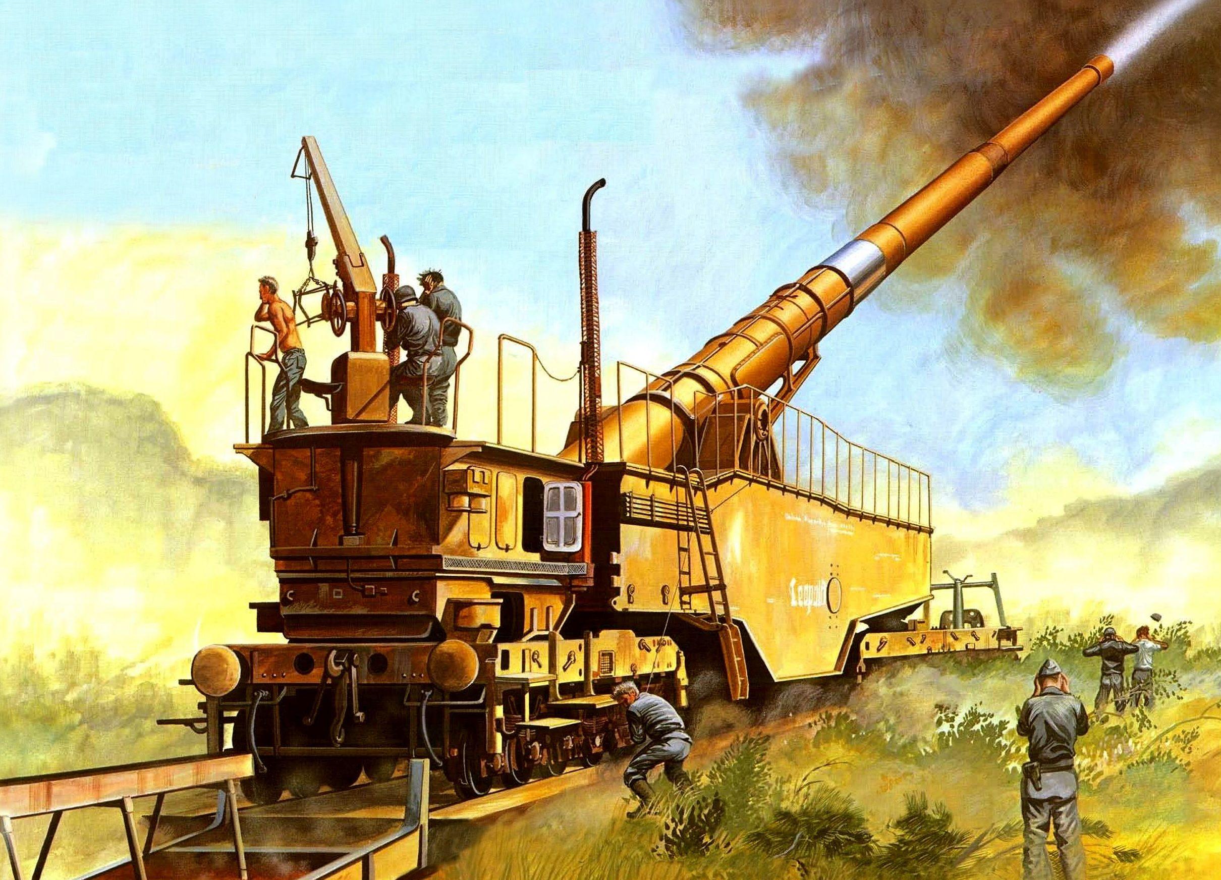 Greer Don. Железнодорожное 28-cm орудие K5(E) Leopold.