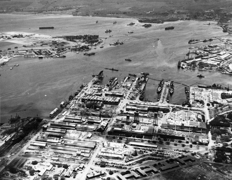 Вид на Перл-Харбор. 28 июля 1942 г.