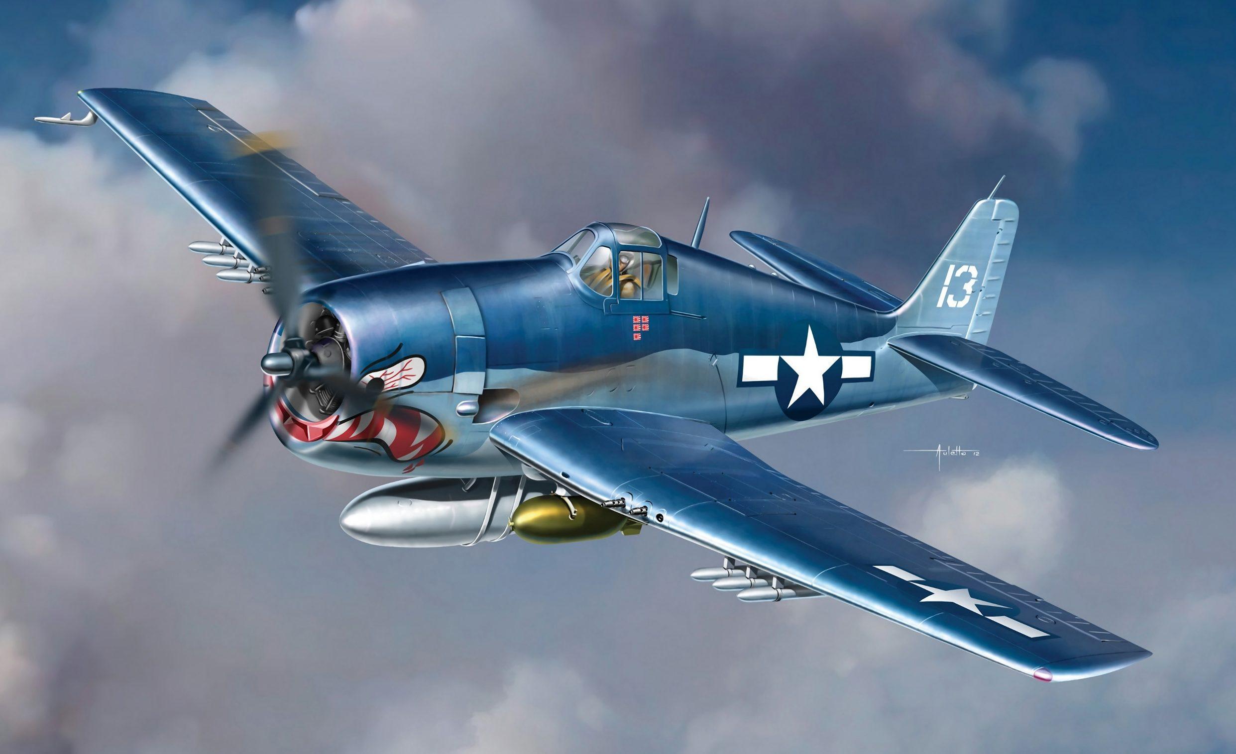 Auletta Vincenzo. Палубный истребитель F6-F3 Hellcat.