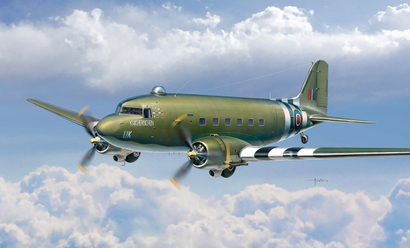 Auletta Vincenzo. Военно-транспортный самолет Dakota Mk.III.