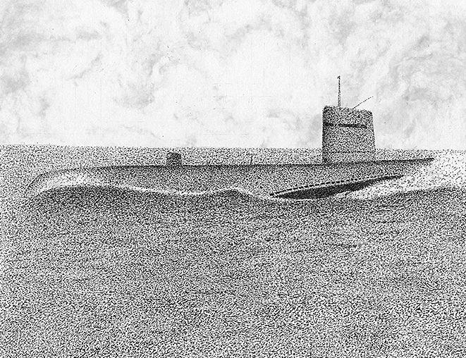Moss Dan. Подлодка Tang (SSN 563).