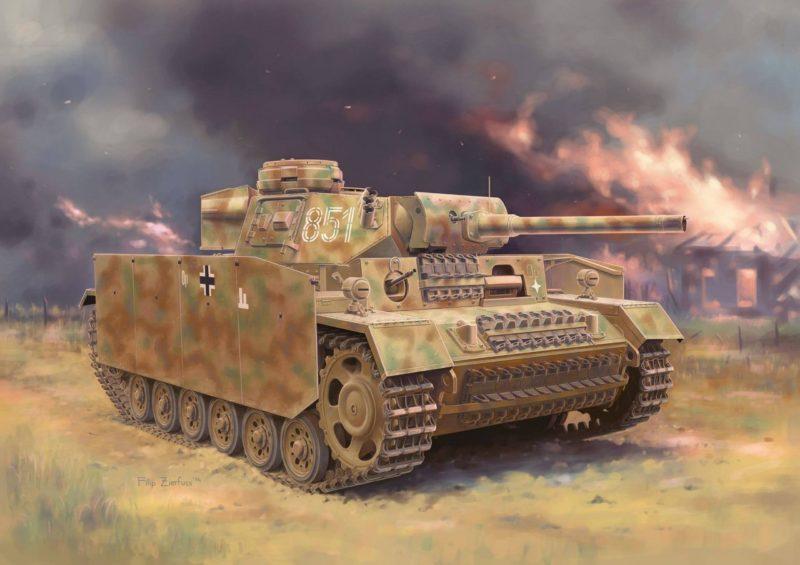 Zierfuss Filip. Flammpanzer III (Sd.Kfz. 141/3) в бою.