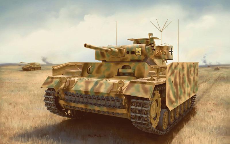 Zierfuss Filip. Танк Pz.Bef.Wg. III Ausf. J.