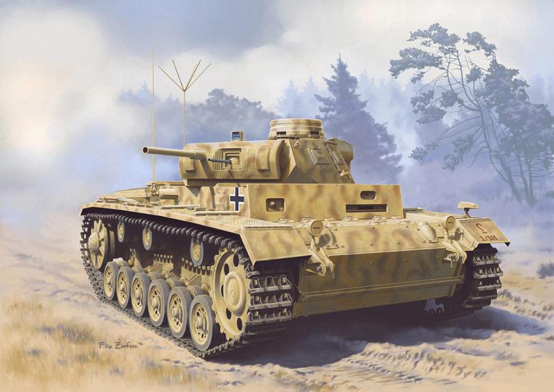 Zierfuss Filip. Командирский танк Pz.Kpfw. III.