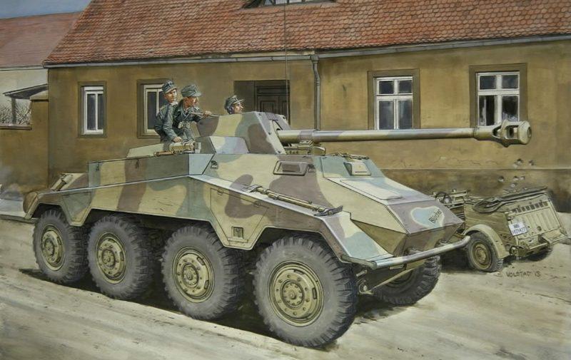 Volstad Ronald. САУ Pak-40 на базе Sd.Kfz. 234.4.