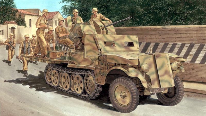 Volstad Ronald. CАУ на базе SdKfz-10-5.