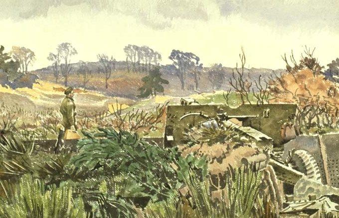 Colville Alex. Остатки артиллерийской позиции.