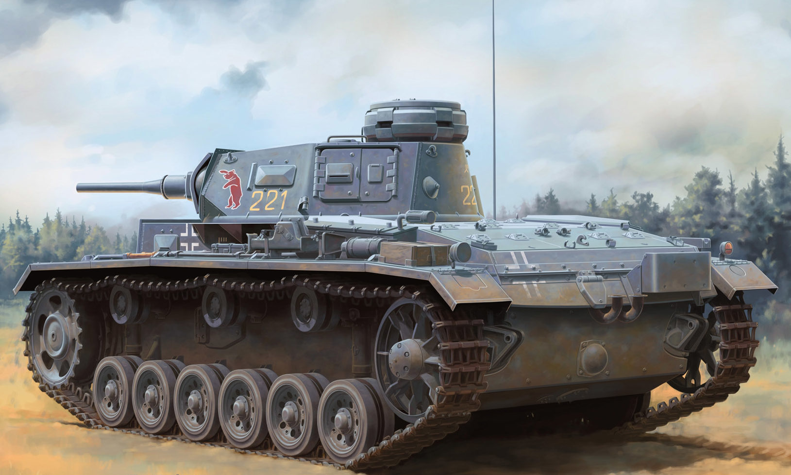Zierfuss Filip. Танк Pz.Kpfw.III Ausf. H.