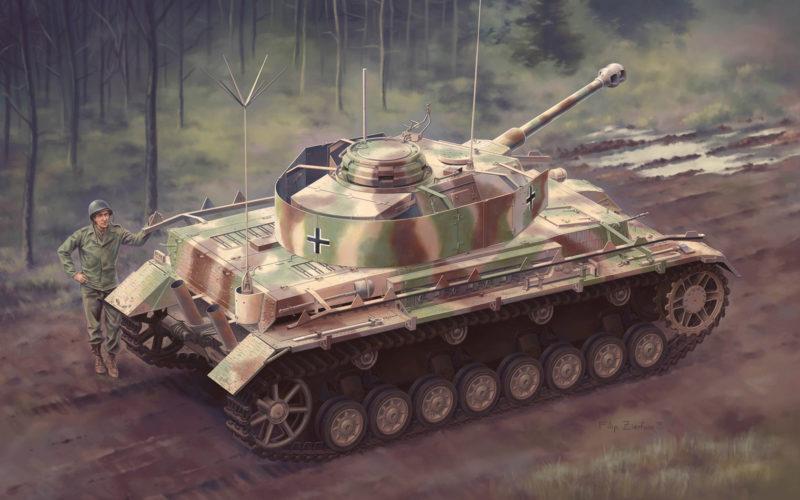 Zierfuss Filip. Танк Panzerbefehlswagen IV Ausf.J.