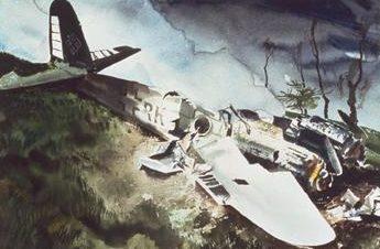Comfort Charles. Разрушенный Me-210.