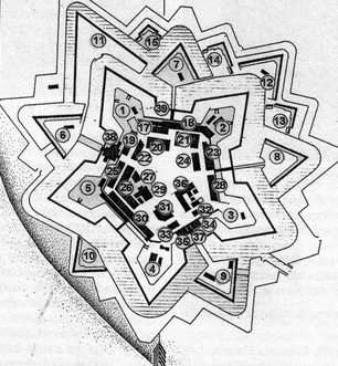 План крепости.